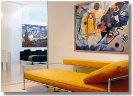 Quadri Falsi d\'Autore ? Van Gogh,Monet,Klimt,Kandinsky - Olio su tela