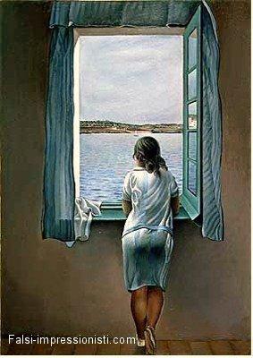 Catalogo falsi d 39 autore quadri dipinti ad olio su tela for Ragazza alla finestra quadro