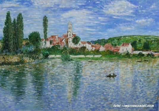 veduta di Vetheuil Falsi d\'autore Monet 55x85 cm - Falsi ...