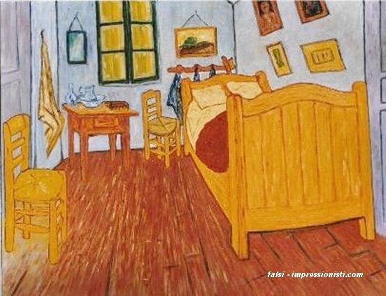 Stanza da letto ad arles falsi d 39 autore van gogh 70x90cm for Stanze ad amsterdam